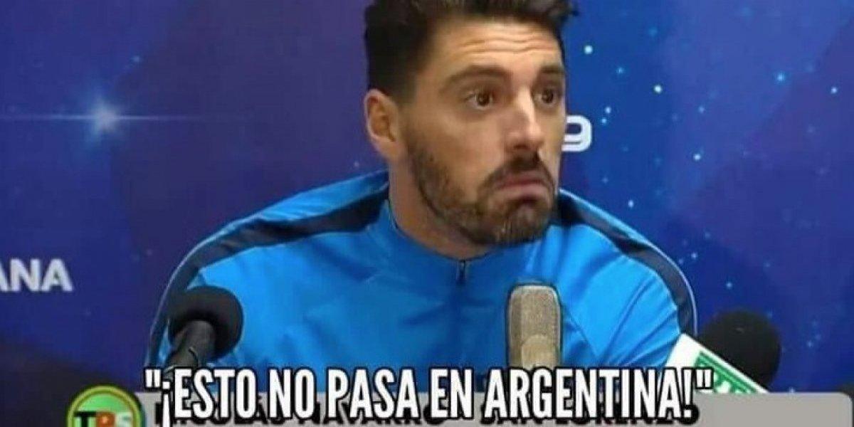 """""""En Argentina eso no pasa"""": Recuerdan el día en arquero de San Lorenzo dijo que allá no atacan buses con piedras"""