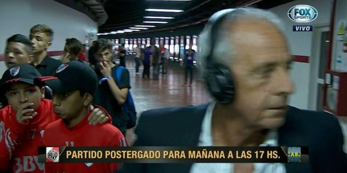 La estampida de hinchas que obligó a correr al presidente de River Plate en plena entrevista