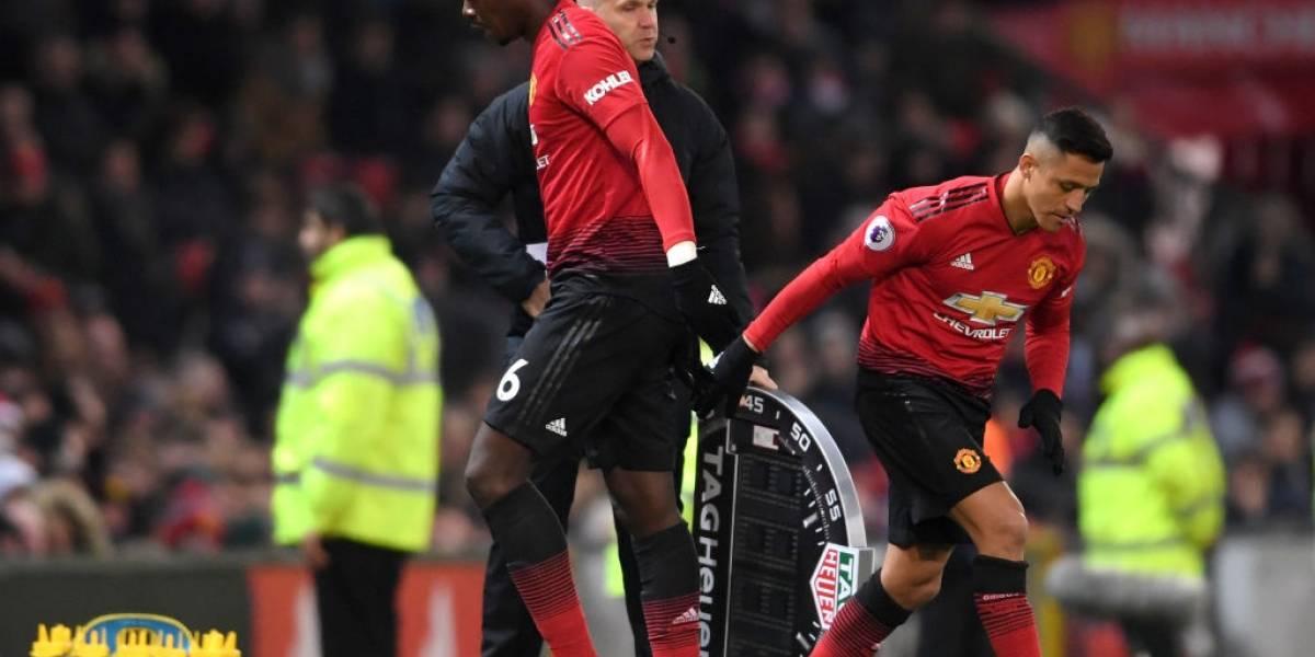 Alexis Sánchez no pudo cambiar la historia de un Manchester United que se hunde en la Premier