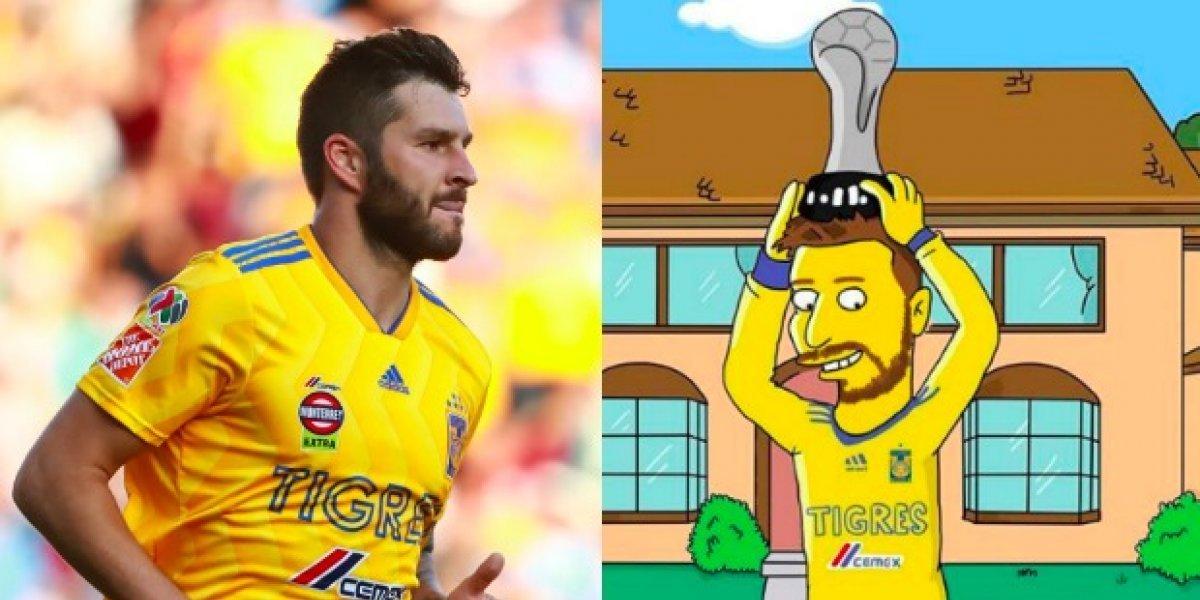 Rinden homenaje a Gignac al estilo de 'Los Simpsons'