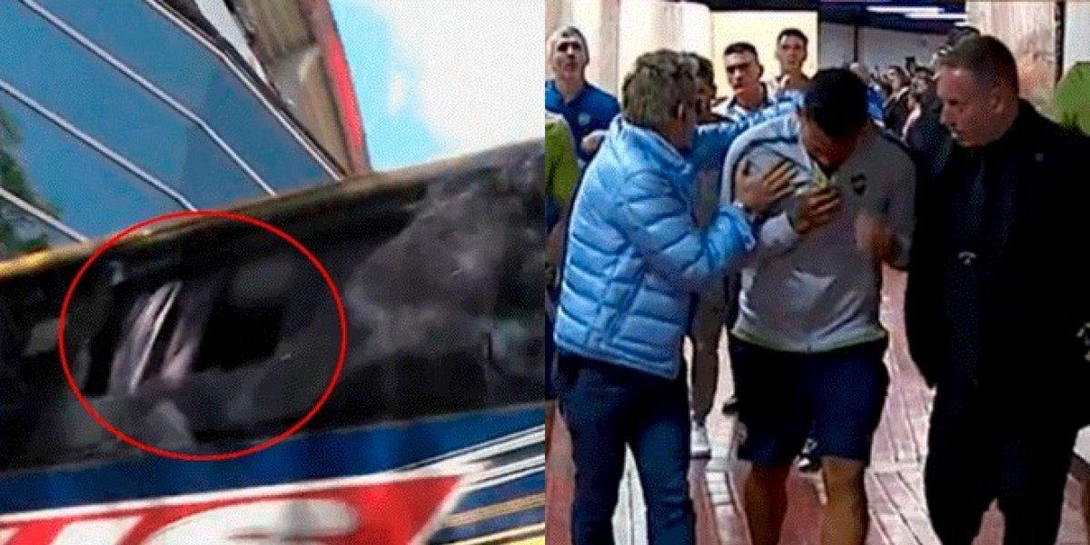 VIDEO. Fuertes agresiones hacia jugadores del Boca atrasan final de la Copa Libertadores