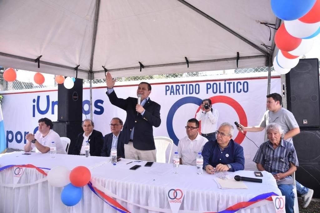 Partido político Unidos. Foto: Omar Solís