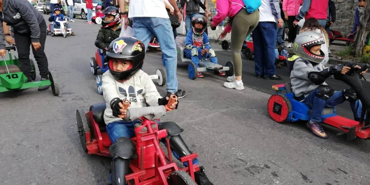 Fiestas de Quito 2019: Niños ya no participarán en las carreras de coches de madera ¡Hay nuevos requisitos!