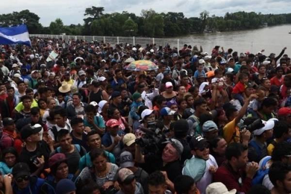 Los hondureños emprendieron la travesía el 13 de octubre.