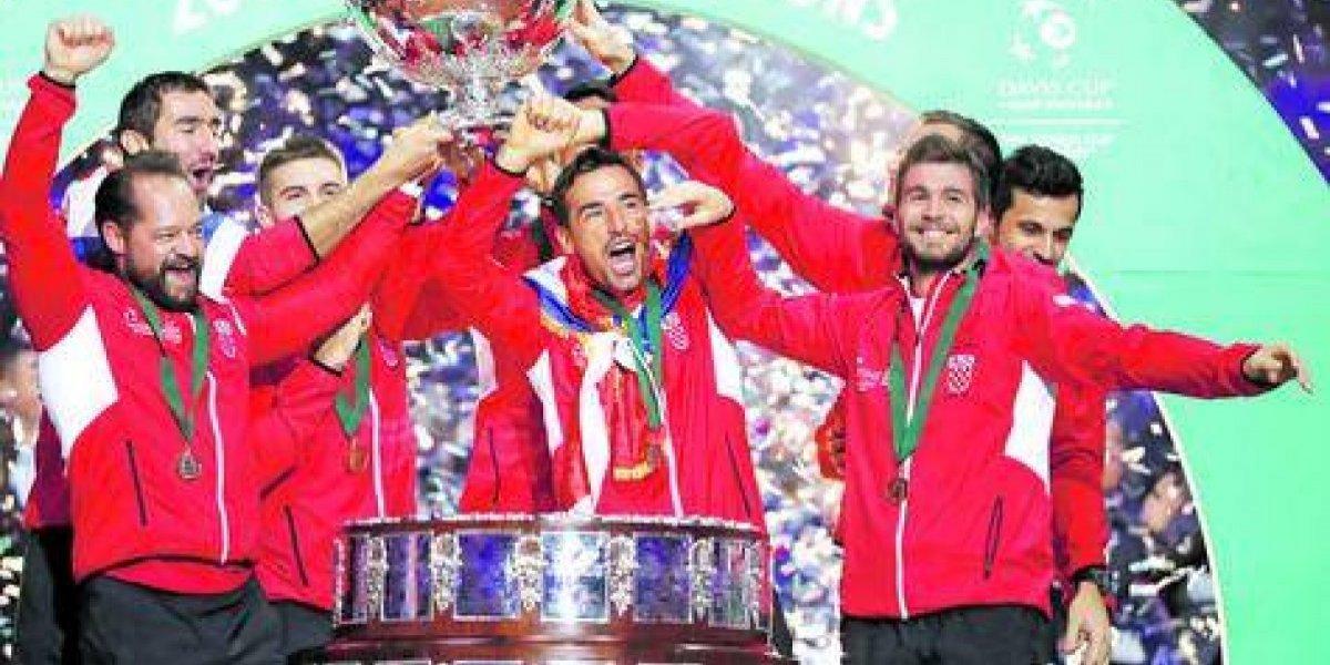 Croacia se vengó de Francia en la última Copa Davis tradicional