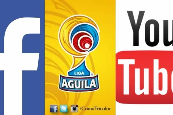 El fútbol colombiano sería transmitido por Facebook y YouTube