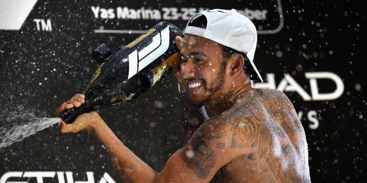 Como buen campeón: Lewis Hamilton cerró la temporada con una victoria en el GP de Abu Dhabi