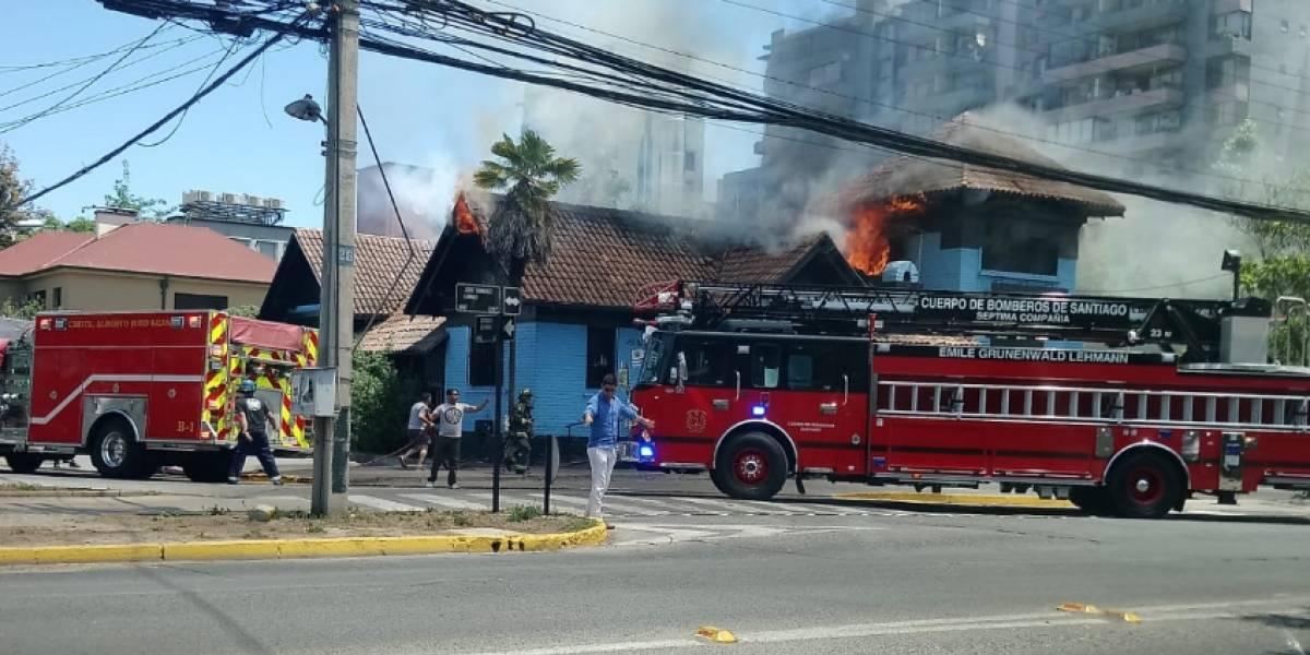 """Incendio afectó a restaurante """"Parrilladas la Uruguaya"""""""