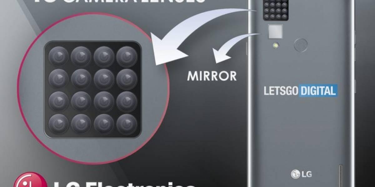 ¡¿En serio?! LG acaba de patentar un teléfono con 16 cámaras