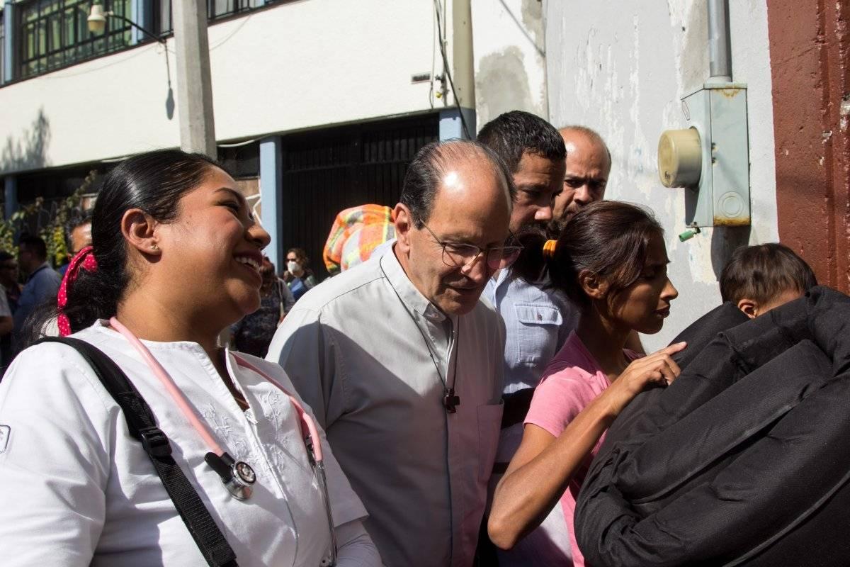 Padre Alejandro Solalinde da apoyo a los migrantes. Foto: Cuartoscuro