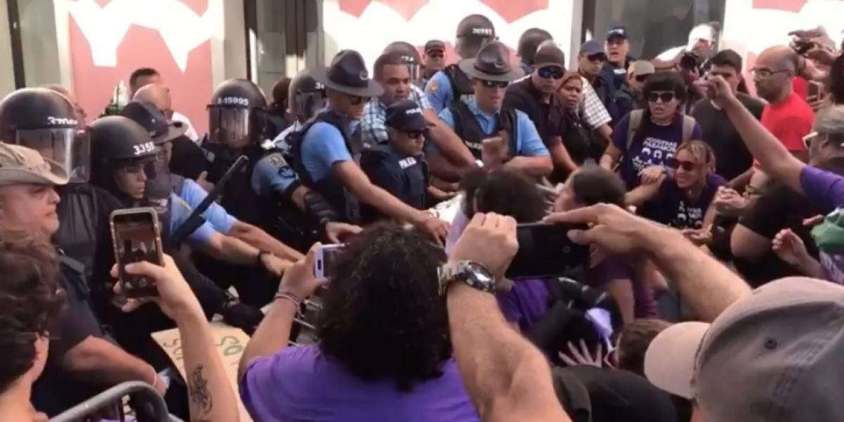 Se caldean los ánimos entre Policía y Colectiva Feminista