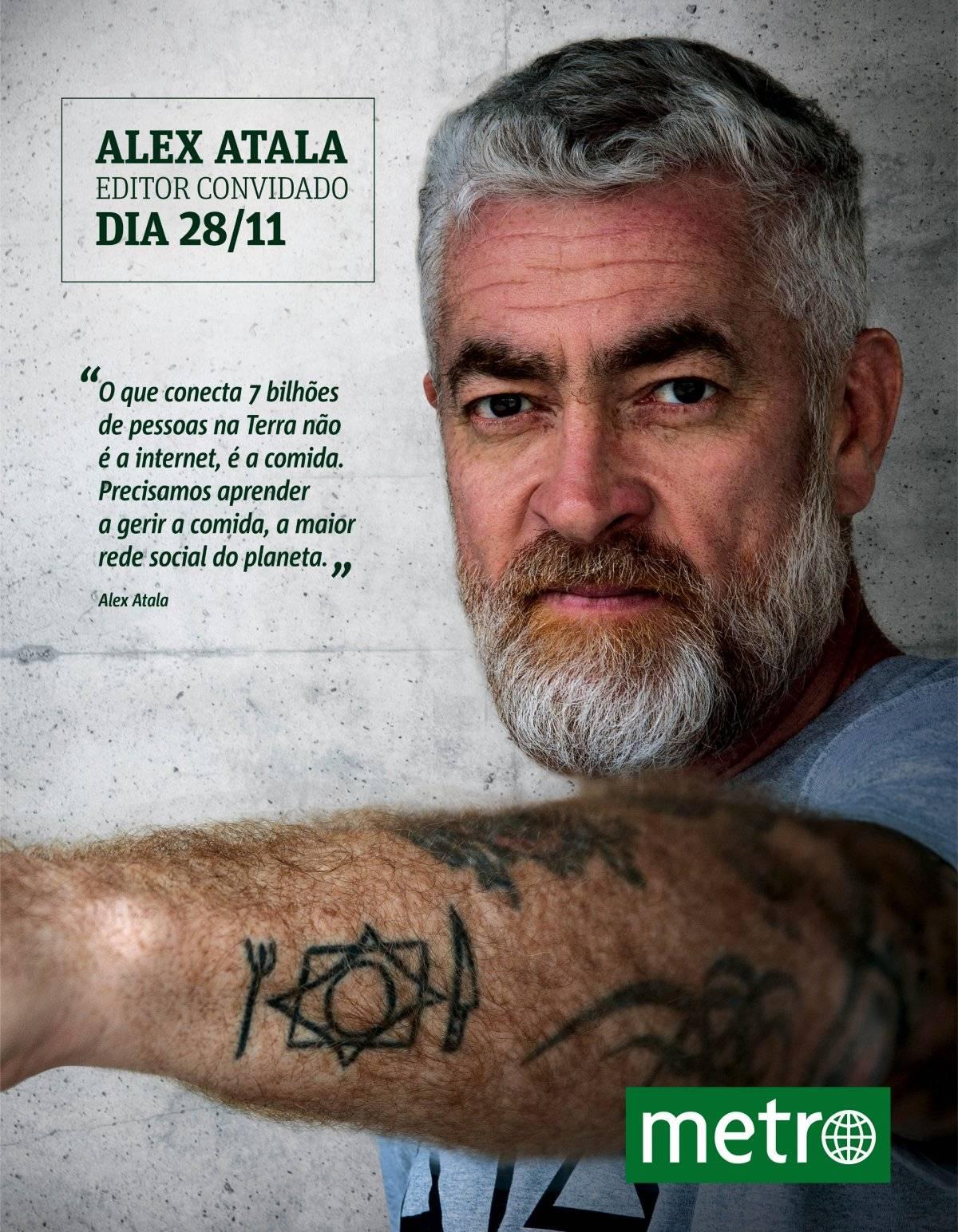 Alex Atala editor convidado Metro Jornal