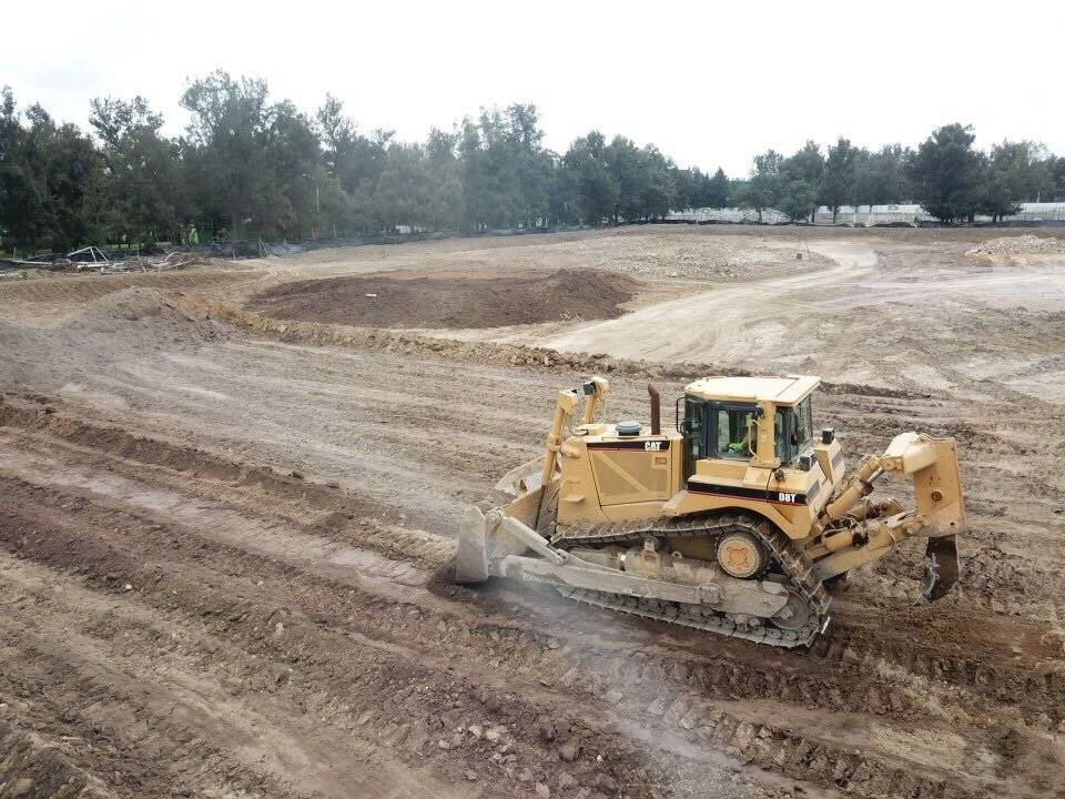 Se movieron 10 mil metros cuadrados de tierra para su construcción.