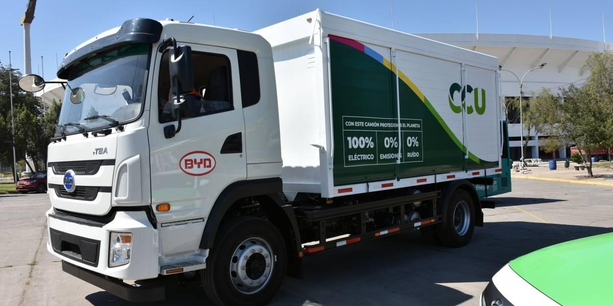 CCU suma su primera camión de alto tonelaje completamente eléctrico