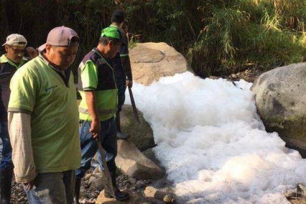 contaminación en el río Los Ocotes