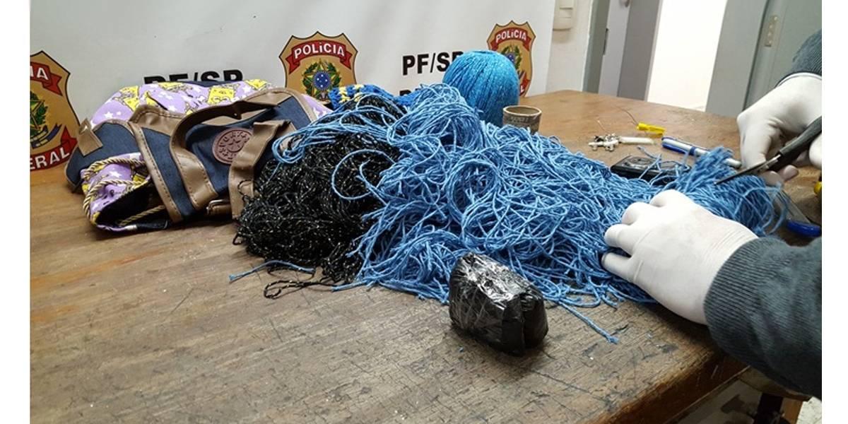 PF apreende droga encontrada em novelos de lã no aeroporto de SP