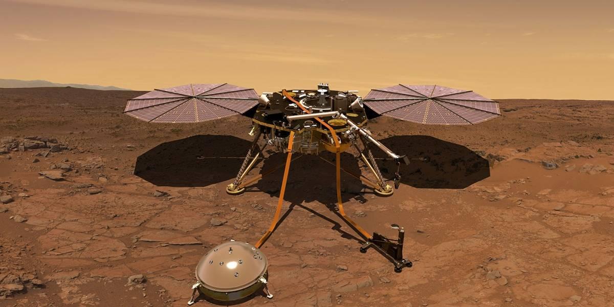 La sonda estadounidense InSight de la Nasa toca Marte