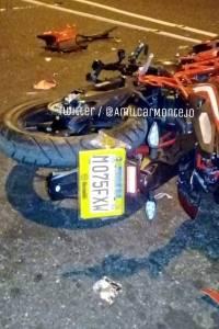 accidente de moto en zona 3