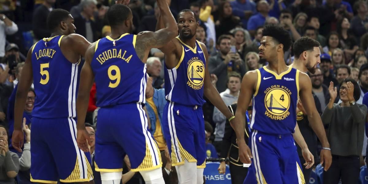 Espectacular actuación de Kevin Durant en victoria de los Warriors sobre los Magic