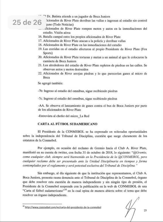 El pedido de Boca Juniors / twitter: @arevalo_martin-TyC Sports