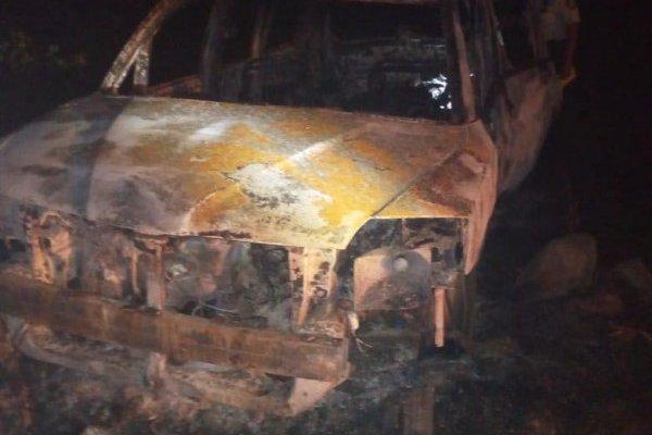 cuerpos calcinados en vehículo en ruta a Puerto Quetzal