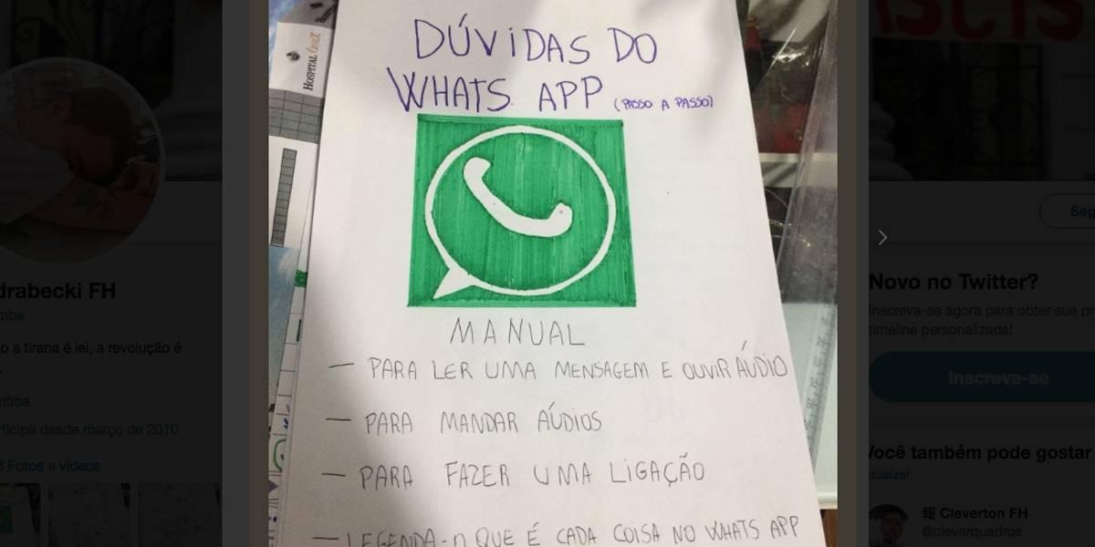 Avó ganha 1º celular e jovem faz manual do Whatsapp para ajudá-la