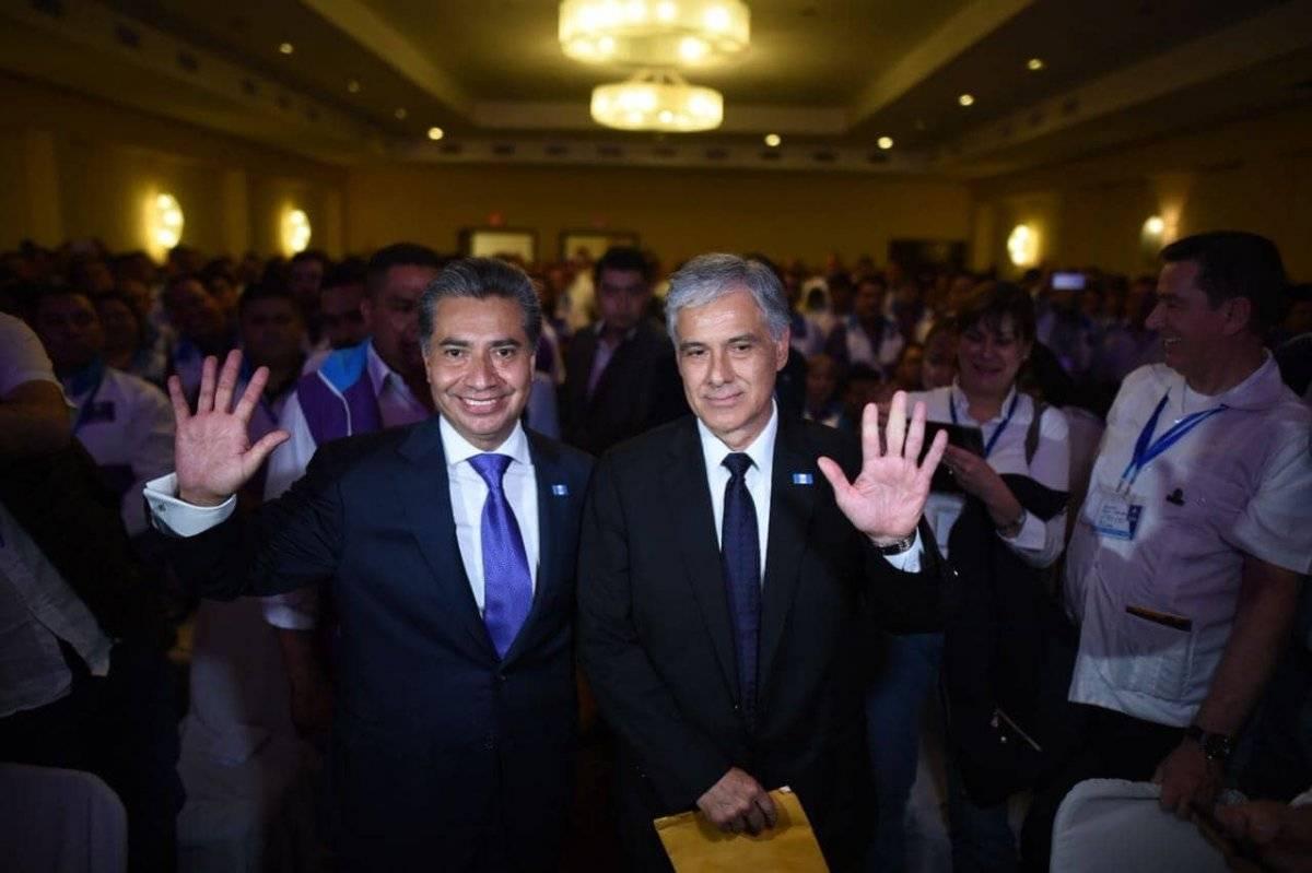Los candidatos a presidente y vicepresidente de Todos son Freddy Cabrera y Ricardo Sagastume Morales. Foto: Edwin Bercián