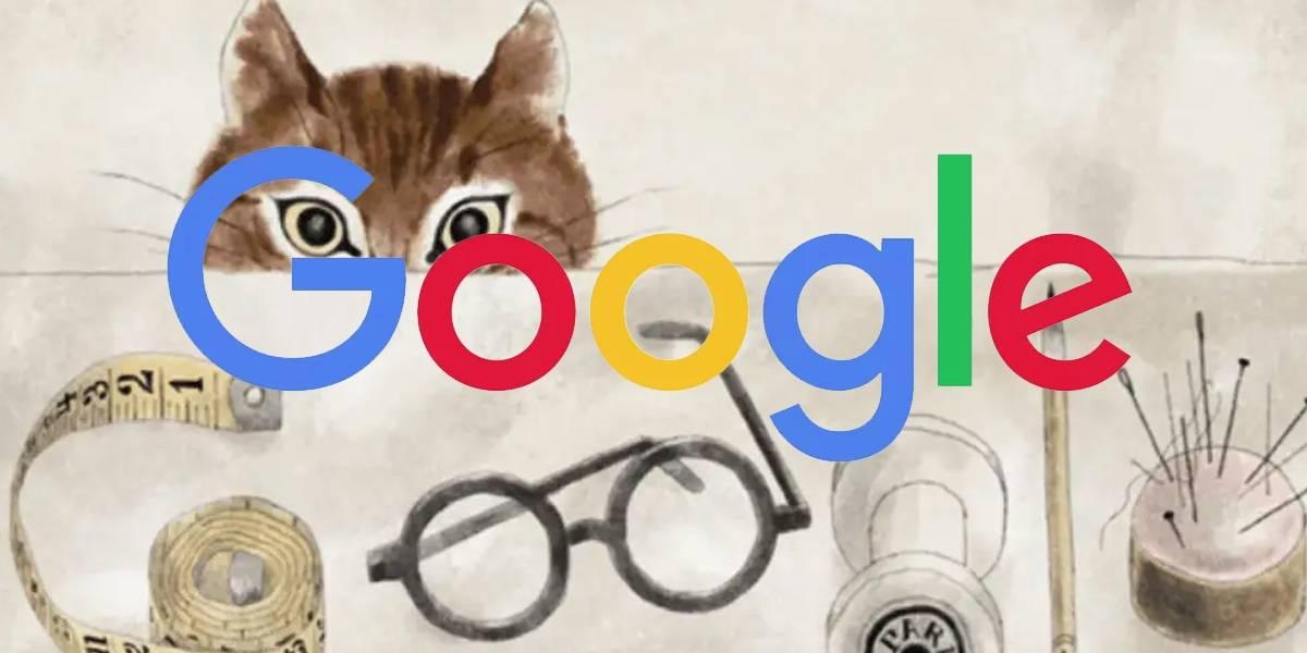 Léonard Tsuguharu Foujita y sus gatos son homenajeados por Google