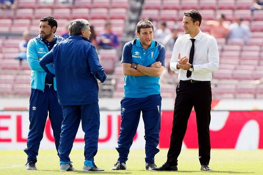 Beñat San José y su cuerpo técnico tienen contrato vigente con la UC hasta diciembre de 2019 / Foto: Photosport