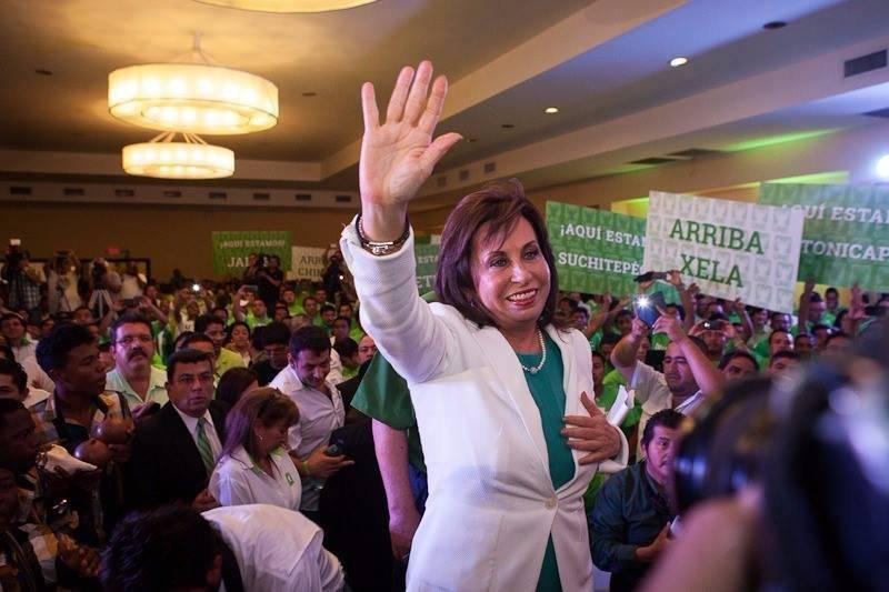 Sandra Torres fue la candidata presidencial de la UNE en 2015. Foto: Facebook