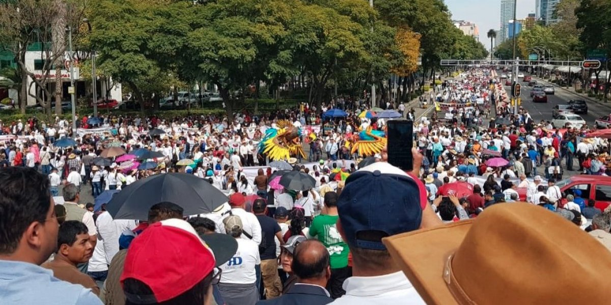 Defienden corridas de toros y peleas de gallos con gran marcha por Reforma