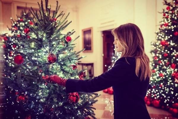 Melania Trump en Navidad