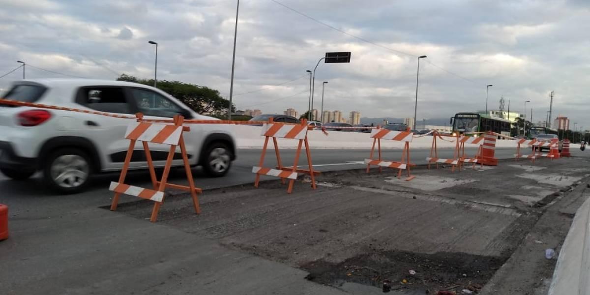 Reparos na Ponte do Limão podem durar dois meses; equipes trabalham no local
