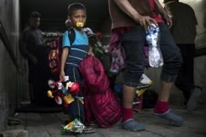 Caravana migrante en Tijuana.