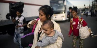 Migrantes hondureños en Tijuana.