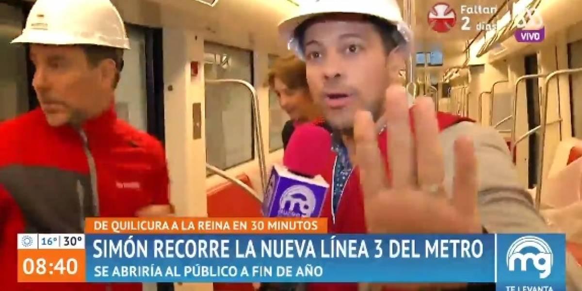 """¡Cerraron las puertas!: El chascarro de periodista de """"Mucho Gusto"""" en nueva linea 3 del Metro"""