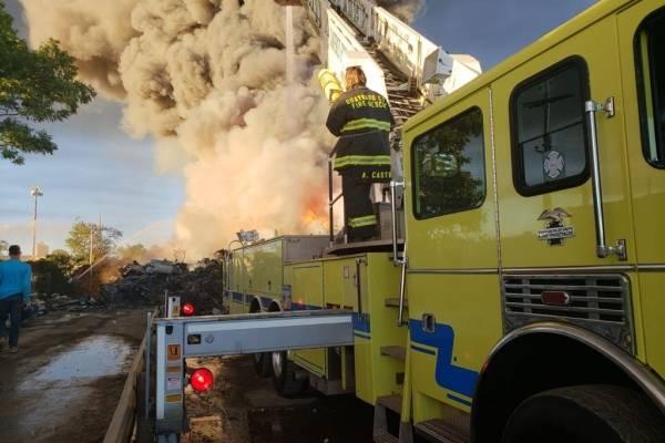 incendio en Carolina