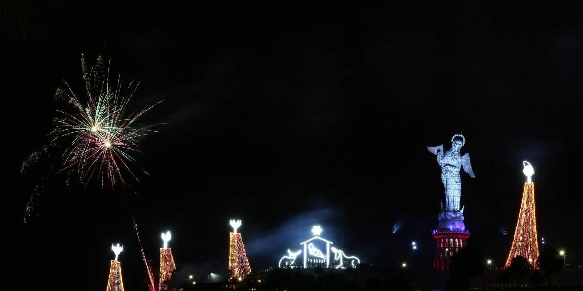 Navidad en Quito: Este 28 de noviembre se encendió el pesebre gigante de El Panecillo
