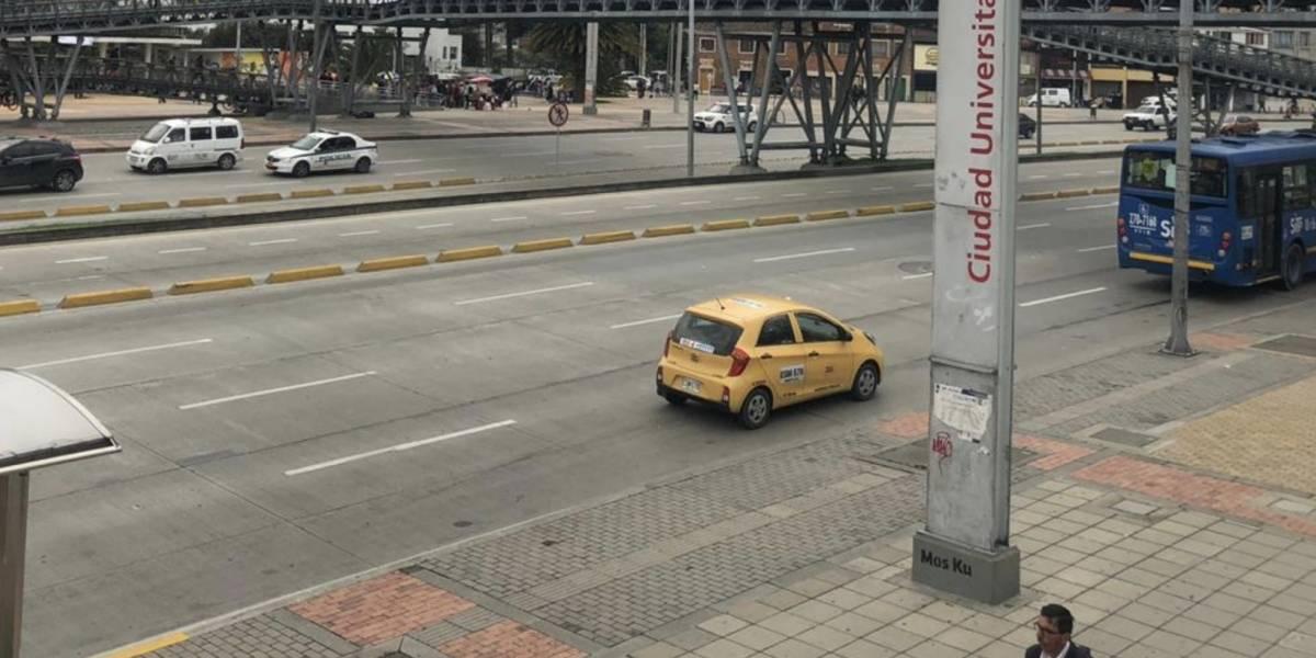 Extraña calma: las calles de Bogotá están desocupadas por las marchas del 28 de noviembre