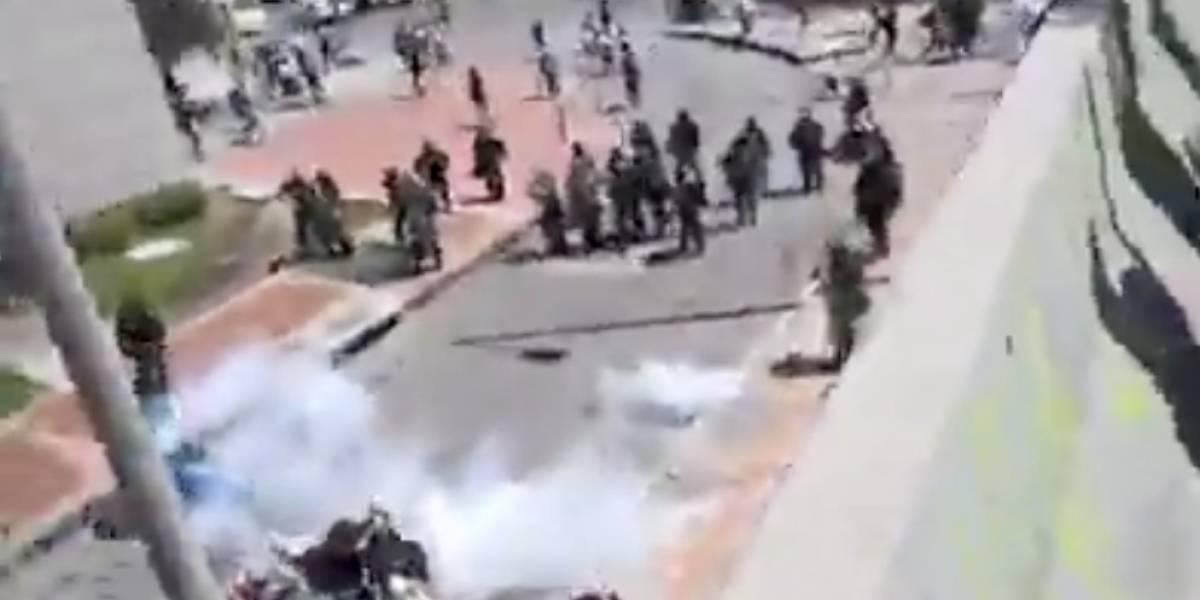 Video del momento en el que el Esmad se enfrenta a estudiantes de la Pedagógica