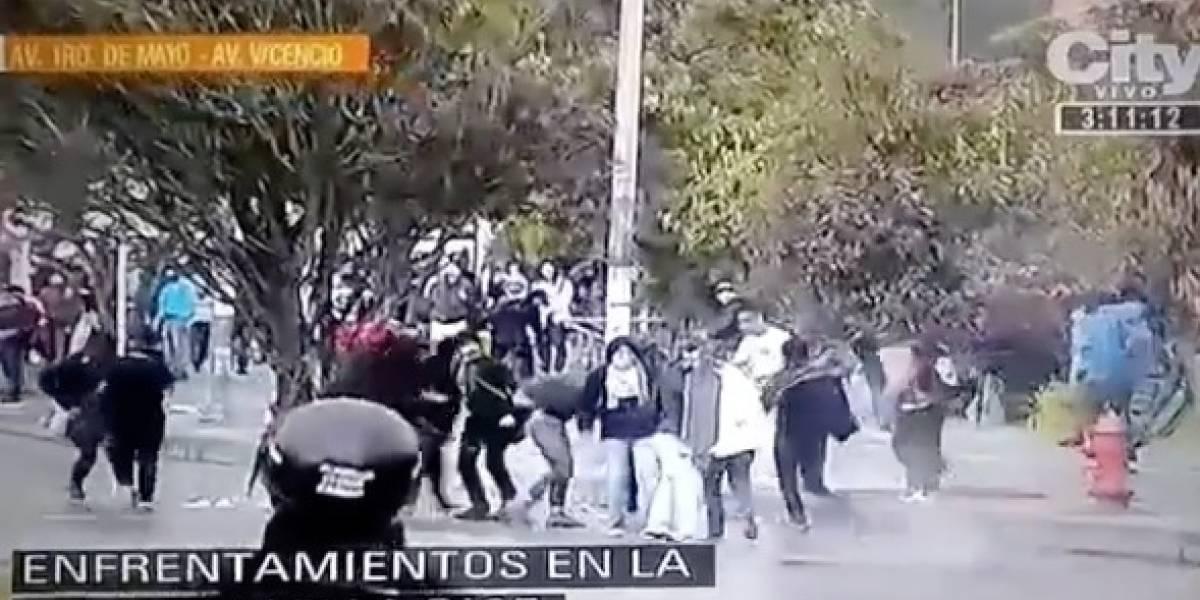 VIDEO: Fuertes disturbios entre jóvenes y Esmad en Bogotá