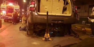 inspeccionan vehículo con posibles ilícitos en Km. 54 ruta Interamericana