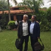 Andrés Manuel López Obrador y Miguel Ángel Revilla, presidente de la comunidad de Cantabria