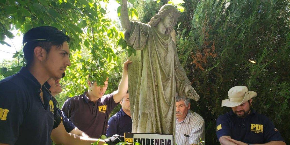 Encuentran nuevas obras en fundo de Raúl Schüler: una de las estatuas está avaluada por sobre los $200 millones