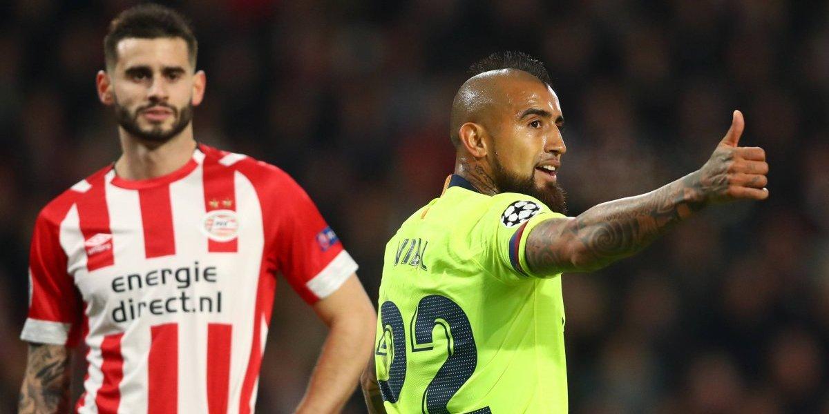 Así vivimos el triunfo de Barcelona ante el PSV por la Champions y con Vidal de titular todo el partido