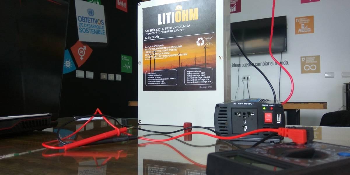 ¡Al fin aprovechan las materias primas! Baterías de litio hechas en Chile buscan ser la solución para el suministro sustentable en los hogares