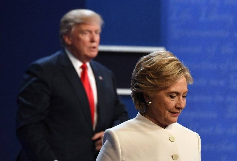 Donald Trump y Hillary Clinton en 2016