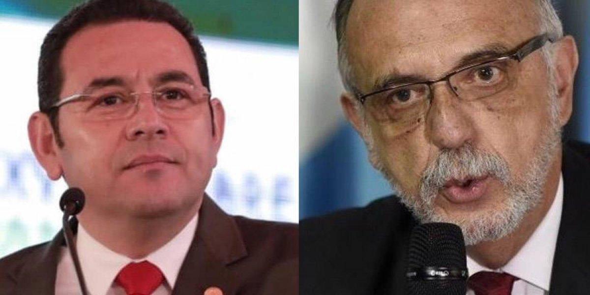 """Iván Velásquez: """"Jimmy Morales debe reflexionar sobre qué es lo que interesa al país"""""""