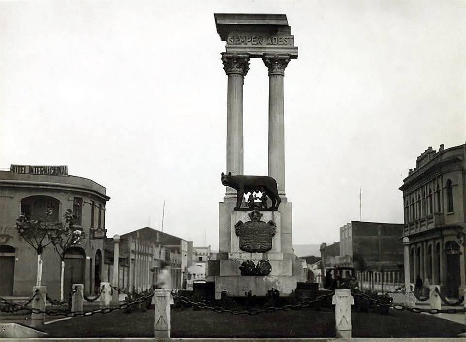 El regalo del gobierno de Mussolini a la comunidad italiana de Talca. Foto: Alberto Sironvalle