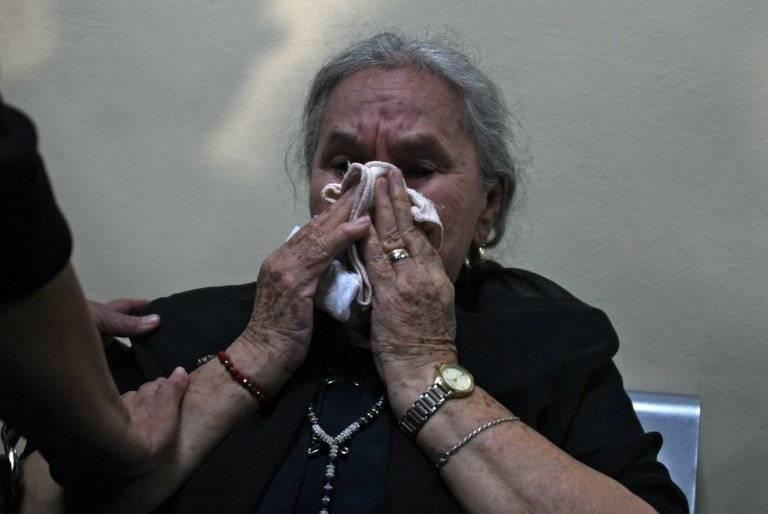 La madre de Berta Cáceres, Berta Flores, asistió AFP